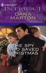 Samy on the cover of The Spy Who Saved Christmas