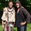 Samy and Noah Danby on set of The Last Jinn