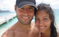 Samy and Andrea on a Caribbean Beach