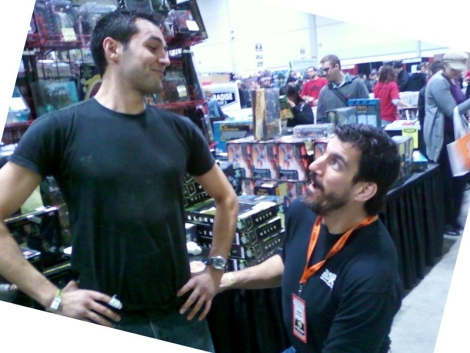 Robert Maillet, impressed with my size!