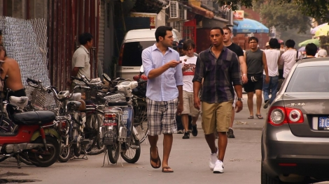 "Still of Samy and Daniel in ""Lost and Found in Beijing"""