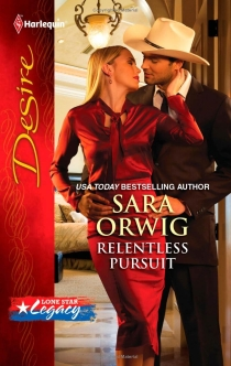 Samy on the cover of Relentless Pursuit by Sara Orwig
