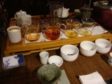 Tea at the Shan-Sheh Booth Outside of the Grocery Store