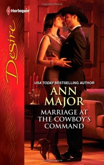 Samy on the cover of Marriage at the Cowboy's Command by Ann Major