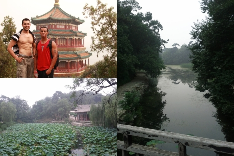 Pictures from Summer Palace. Kevin took the shot of Daniel and I on the top right, while the other ones are two of many that I took walking around